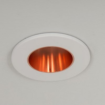 Qr Pro GU10 Downlight White with Rose Gold Baffle