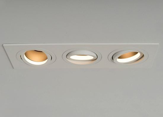 Qr Pro Triple Plate Downlight White with Black Baffle