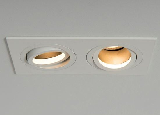 Qr Pro Twin Plate Downlight White with Black Baffle