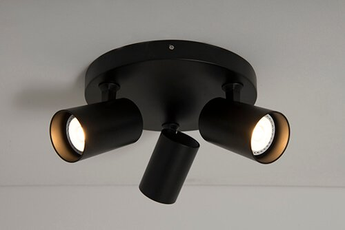 KSR6263 GU10 Triple Plate Spotlight Black
