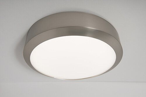 Navara IP65 LED Ceiling Light 12W 18W Satin Nickel