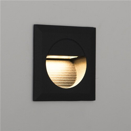 Carpio 1.4W IP44 Mini LED Recessed Wall Light Square