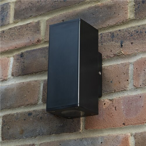 Norcia Plastic GU10 Square Up & Down Wall Light KSR1503