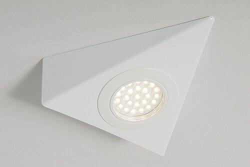 Mains Voltage 1.5W Triangle LED Cabinet Light White